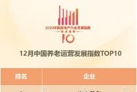 12月中国养老运营TOP10报告·观点月度指数